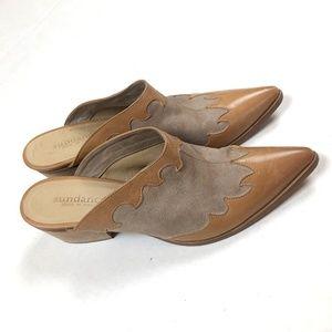 SUNDANCE Catalog RARE Western Mules Slip On Boots